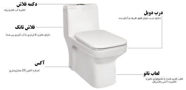 توالت فرنگی مروارید ولگا